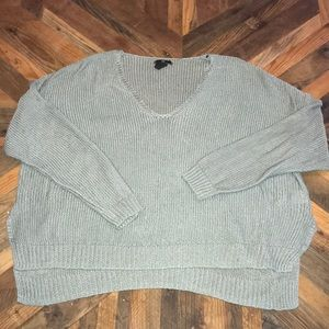 H&M knit high low mint green sweater